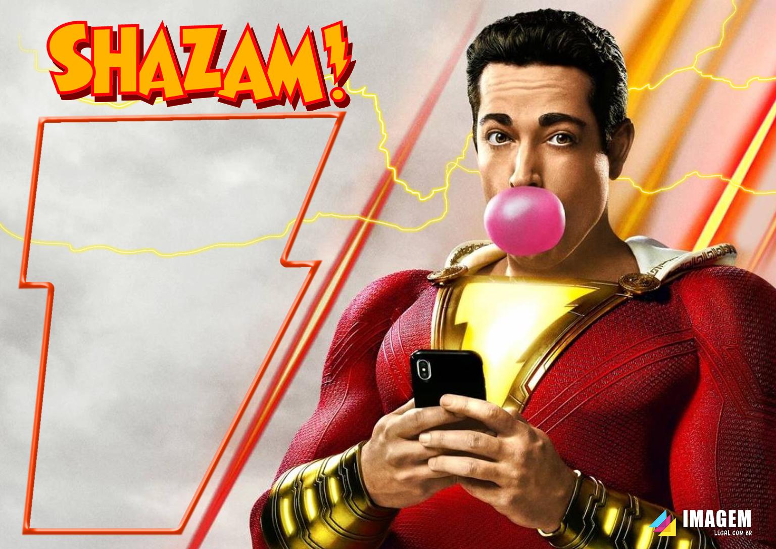 Moldura PNG Shazam