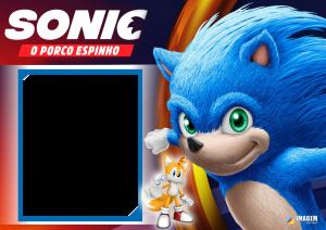 Moldura PNG Sonic O Porco Espinho