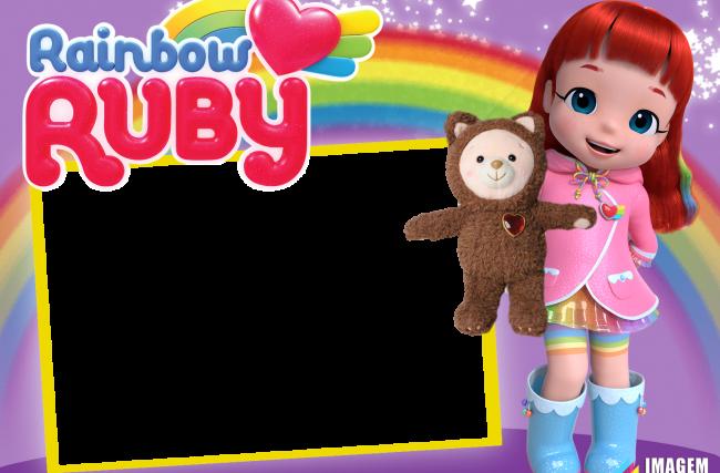 Moldura Rainbow Ruby PNG | Imagem Legal