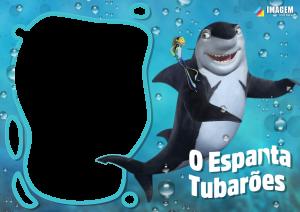 O Espanta Tubarões Moldura PNG