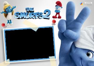 Os Smurfs 2 Moldura PNG