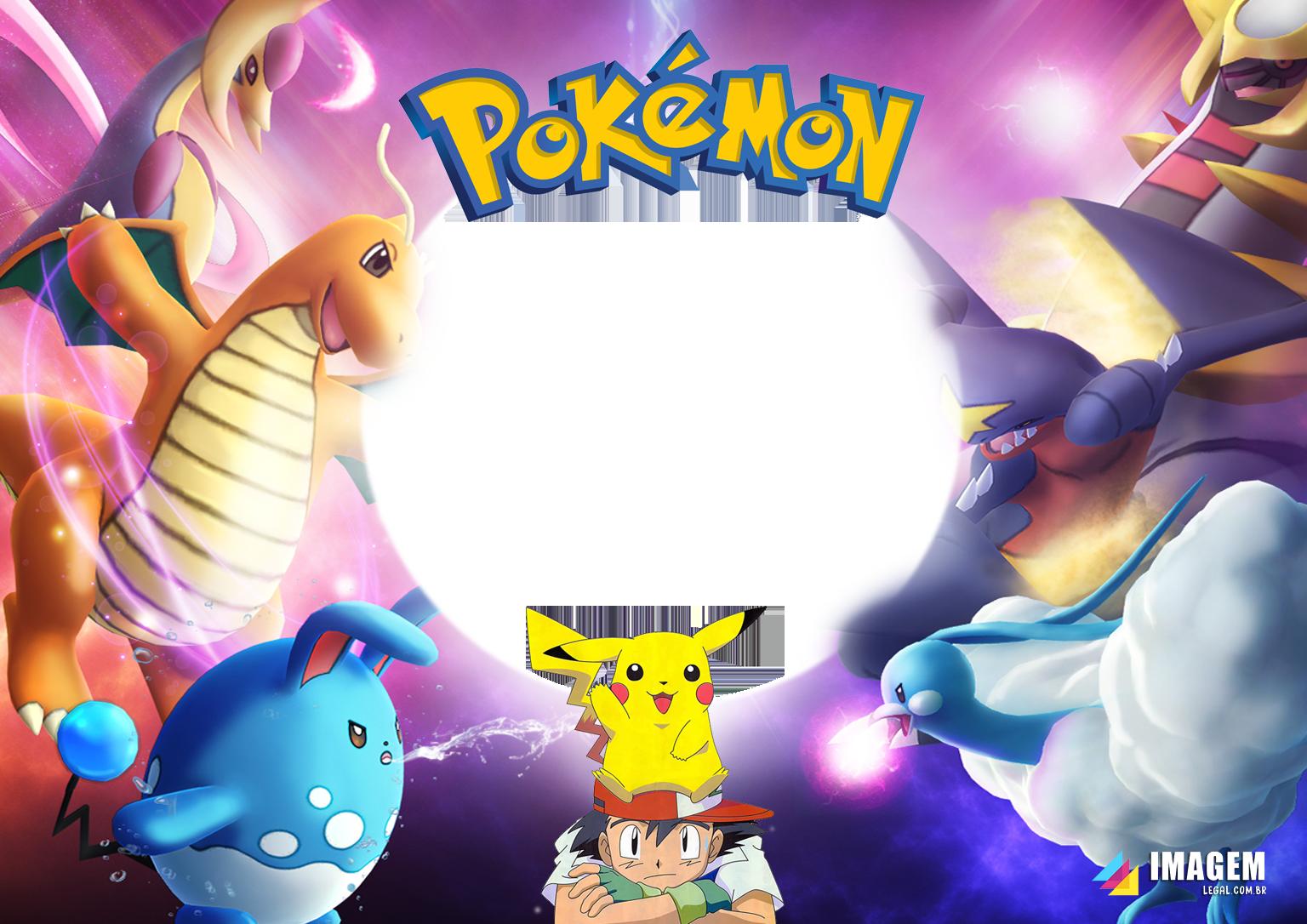 Pokémon Moldura PNG