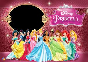 Princesas Disney Moldura PNG