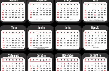 Grade Calendário 2021 Grátis em PNG – Modelos para Baixar