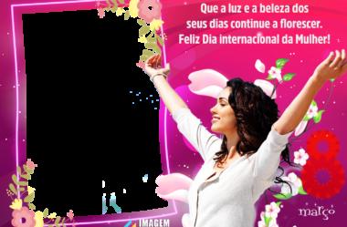 Molduras do Dia da Mulher para Montagem de Fotos