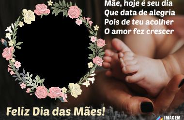 Moldura de Feliz Dia das Mães para Montagem de Fotos