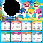 Calendário 2021 Baby Shark Foto Moldura Digital