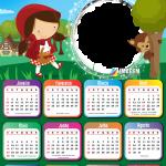 Emoldurar Calendário 2021 Chapeuzinho Vermelho