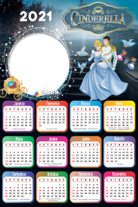 Calendário 2021 Personalizado Cinderella