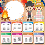 Molduras para Fotos Calendário 2021 Festa Junina