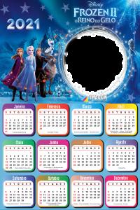 Montagem de Fotos Calendário 2021 Frozen 2