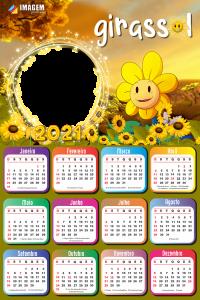 Efeitos pra Fotos Calendário 2021 Girassol