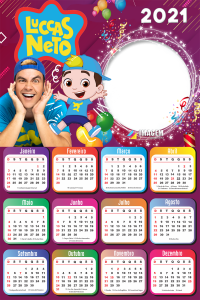Calendário 2021 Luccas Neto