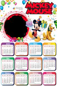 Calendário 2021 Mickey Mouse Montagem de Fotos