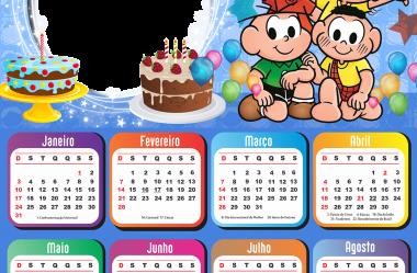 Moldura Calendário 2021 de Aniversário em PNG