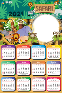Montar Fotos Calendário 2021 Safari