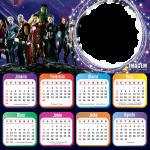 Moldura Calendário 2021 Vingadores