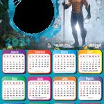 Calendário 2021 Aquaman Montagem de Fotos