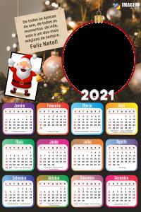 Calendário 2021 De todas as épocas do ano Moldura
