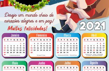 Moldura Calendário 2021 de Natal para Montagem de Foto