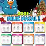 Calendário 2021 Feliz Natal Galinha Pintadinha