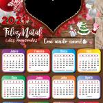 Calendário 2021 Feliz Natal para Namorados PNG