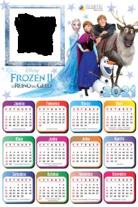 Calendário 2021 Frozen o Reino do Gelo