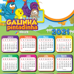 Calendário 2021 Desenho Galinha Pintadinha PNG