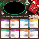 Calendário 2021 Luzes de Natal Paz e Harmonia PNG