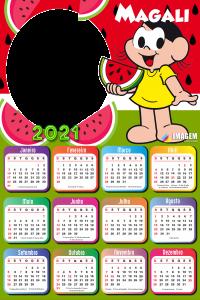Calendário 2021 Magali Colagem de Foto