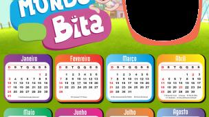 Calendário 2021 Mundo Bita e os Animais PNG