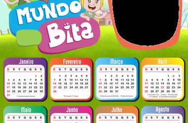Calendário 2021 PNG Infantil para Foto Montagem