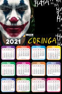 Calendário 2021 PNG do Coringa