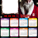 Calendário 2021 Papai Noel Malvado PNG