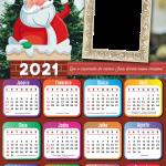 Calendário 2021 Papai Noel na Chaminé PNG