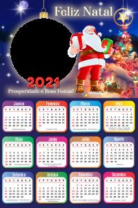 Calendário 2021 Prosperidade e Boas Festas Moldura