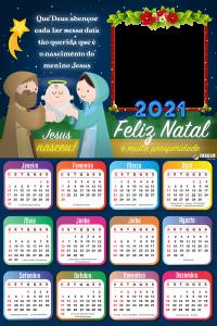 Calendário 2021 Que Deus Abençoe cada lar PNG