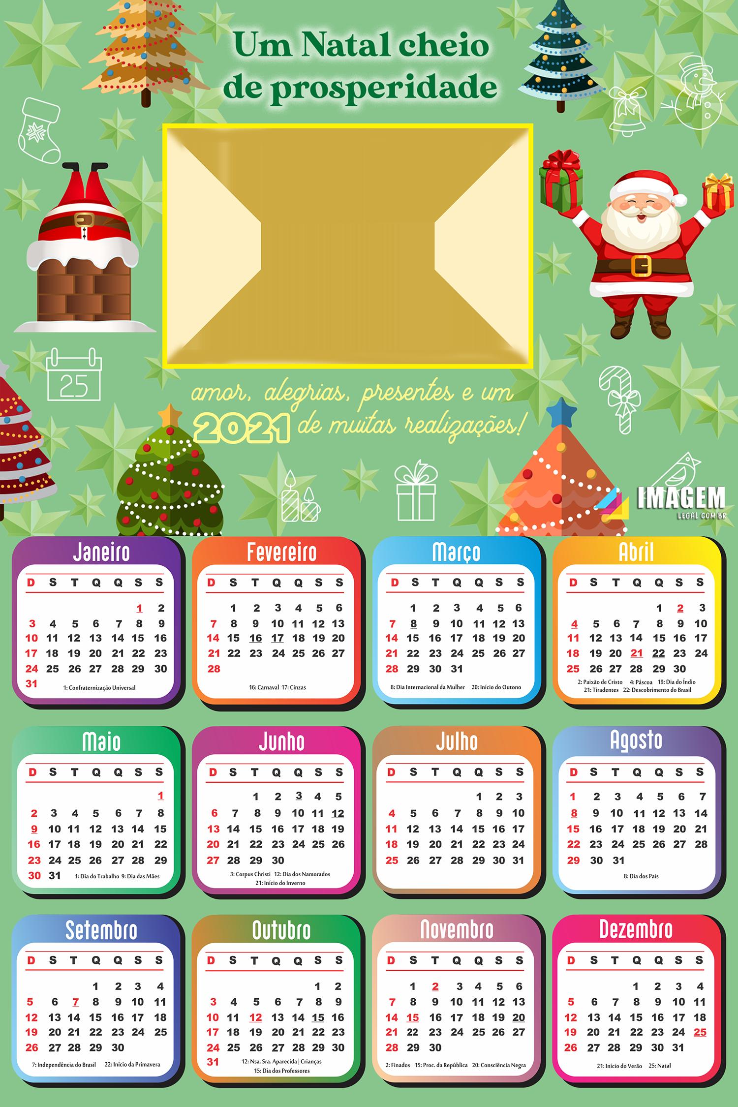 Calendário 2021 Um Natal cheio de Prosperidade