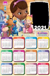 Emoldura Calendário 2021 Doutora Brinquedos