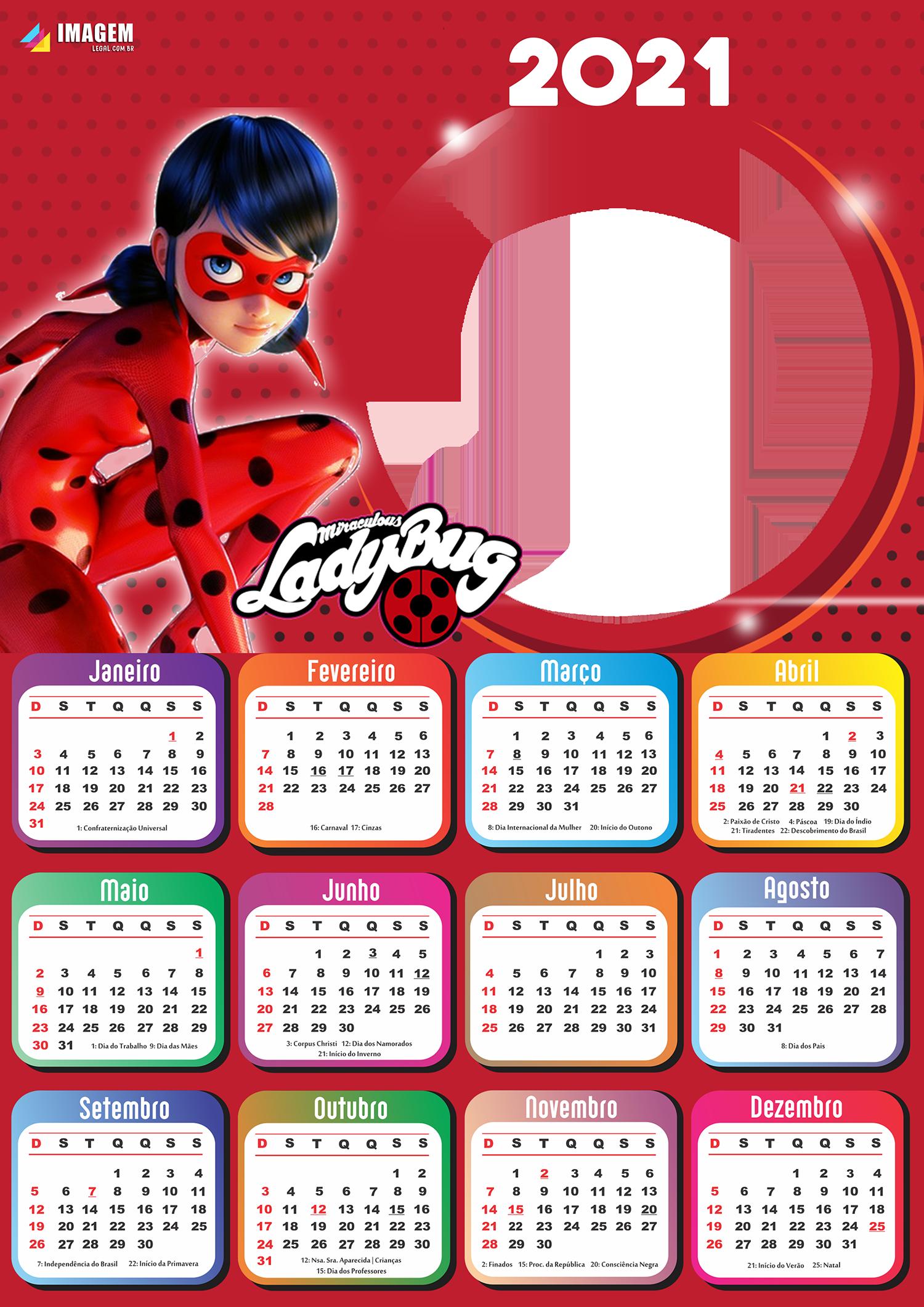 Emoldurar Foto Calendário 2021 LadyBug