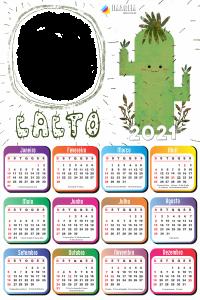 Foto Montagem Grátis Calendário 2021 Cacto