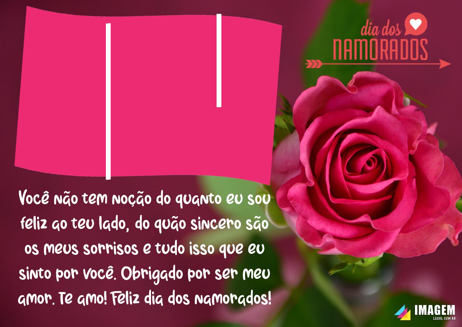 Mensagem Dia dos Namorados Moldura PNG