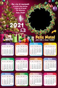 Moldura Calendário 2021 Feliz Natal Gospel PNG