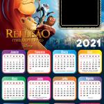 Moldura Calendário 2021 Rei Leão