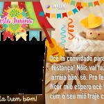 Lembrancinha Festa Junina Moldura PNG