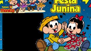 Moldura Festa Junina Turma da Mônica
