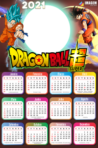 Moldura Infantil Calendário 2021 Dragon Ball Super