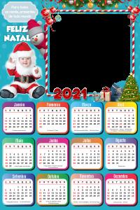 Moldura PNG Calendário 2021 Papai Noel Baby