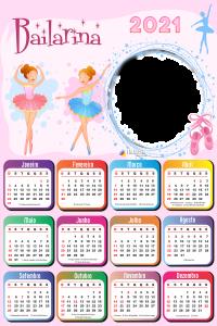 Montar Calendário 2021 Bailarina