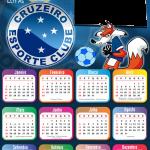 Calendário 2021 Cruzeiro Moldura PNG